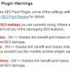 WordPress SEO Plugin Warnings