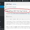 WordPress SEO Title Tag Tutorial