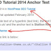 WordPress SEO Tutorial Anchor Text