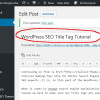 WordPress SEO Title Tag Tutorial