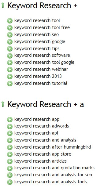 Übersuggest Keyword Research Tool