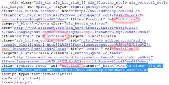 BlackHat SEO Add to Any Hidden Link