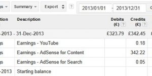 AdSense Earnings Proof 2013