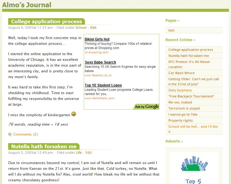 WordPress Almost Spring Theme
