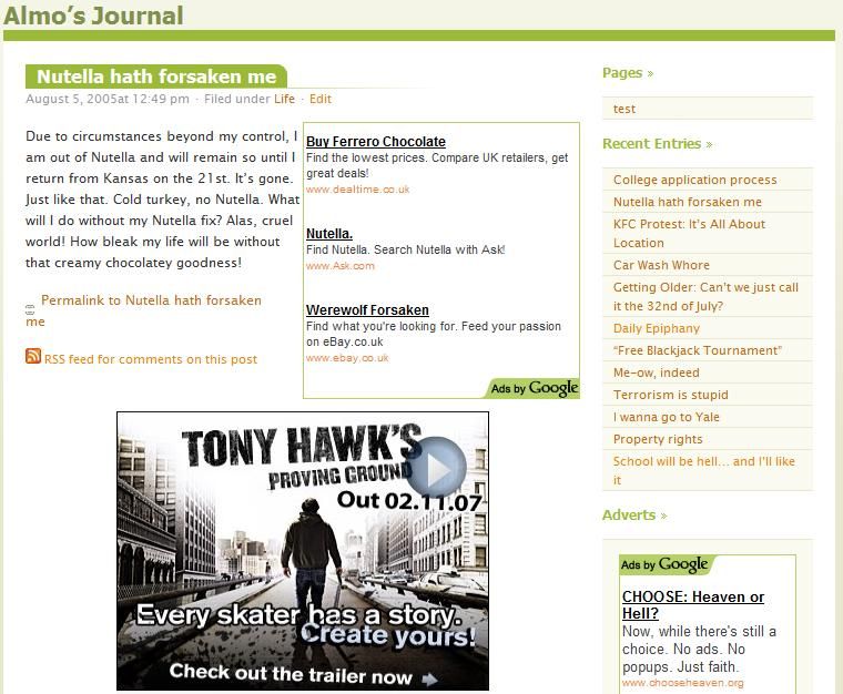 WordPress Almost Spring Theme Post