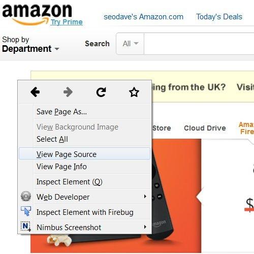 Amazon View Code Source