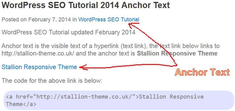 WordPress SEO Tutorial 2014 Anchor Text
