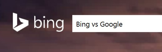 Bing Search vs Google Search