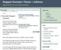 BlogSpot Rounders AdSense Template