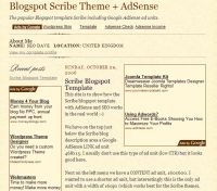 BlogSpot Scribe AdSense Template