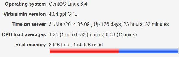 Dedicated Server CPU Load Averages