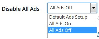 Disable Ads