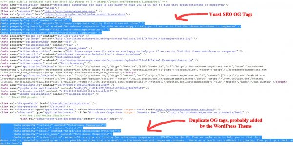 Google Duplicate Meta Description Tags Warnings