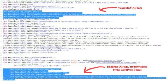 Duplicate Yoast SEO Open Graph Meta Tags