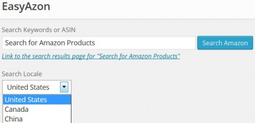 EasyAzon Amazon Affiliate Product Search
