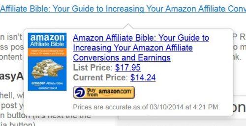 EasyAzon Amazon Hoverover Ad