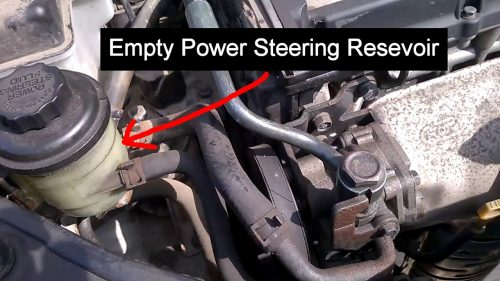 Empty Power Steering Fluid Reservoir