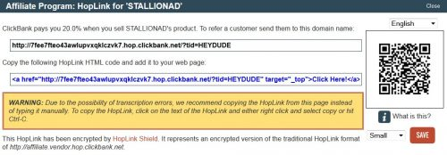 Encrypted Clickbank HopLink