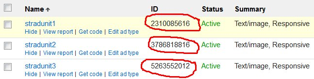 Google AdSense Ad Channels