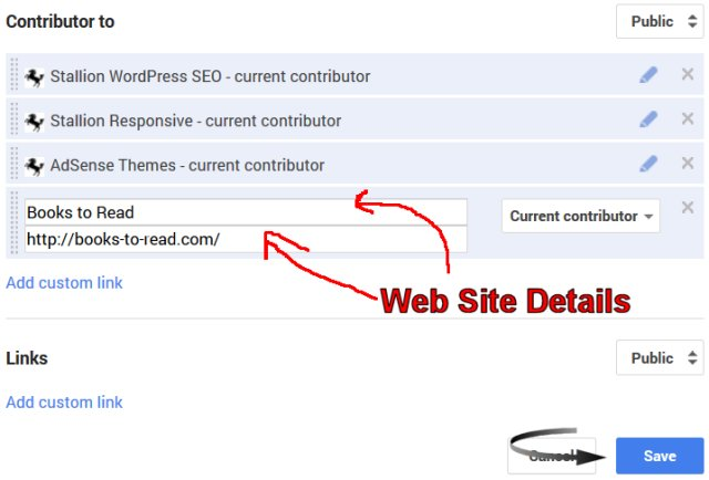 Google Authorship Contributor