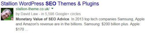 Google Meta Description Tag