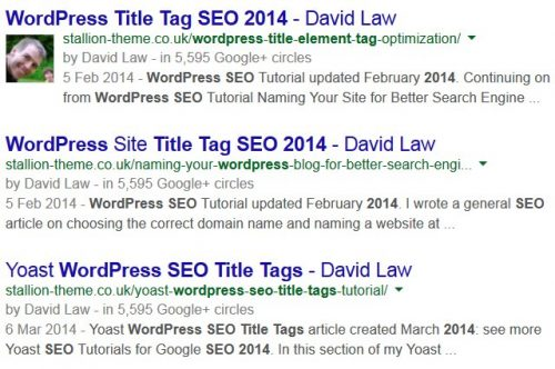 Google Title Tag SERP