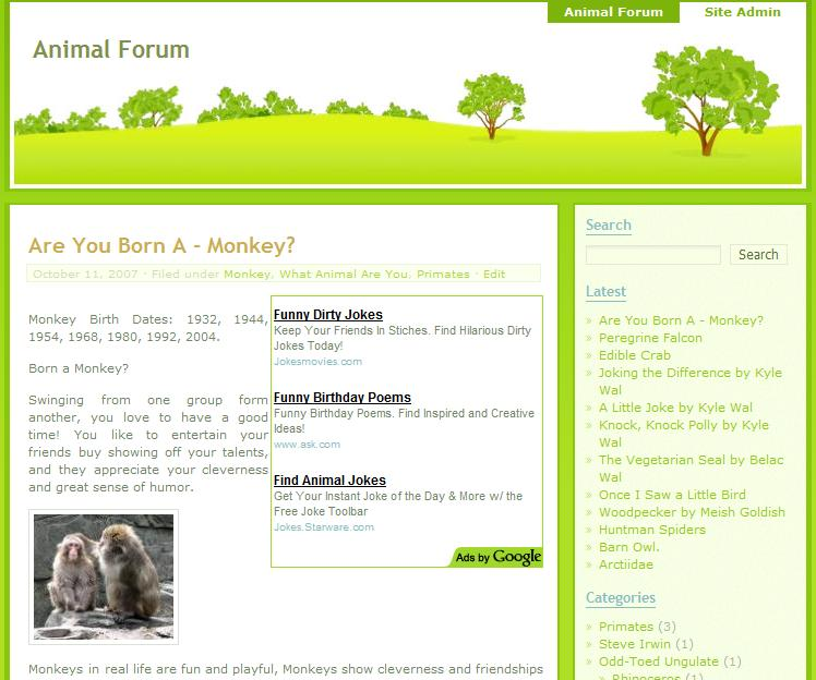 WordPress Greenery Theme