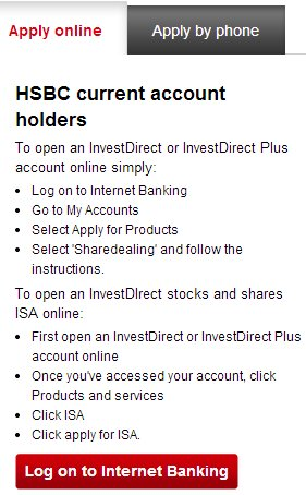 HSBC Online Share Trading Account