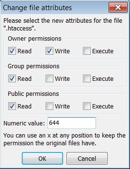 WordPress .htaccess Write Permissions