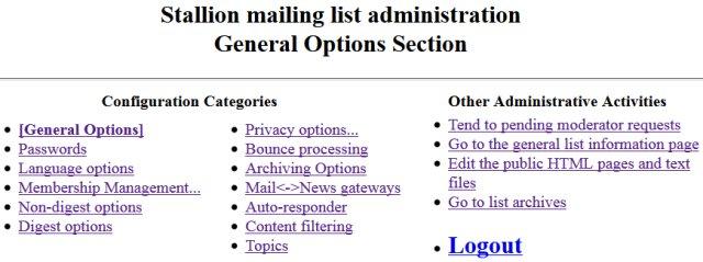 Mailman Mailing List