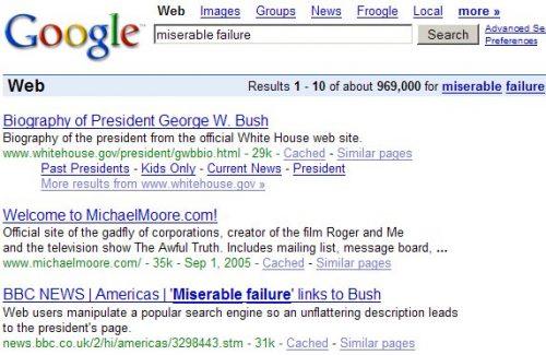 Miserable Failure GoogleBomb