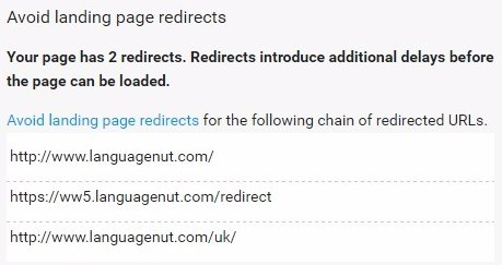 Avoid Landing Page Redirects