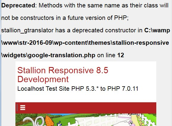 PHP 7 Deprecated Constructor Error Notice