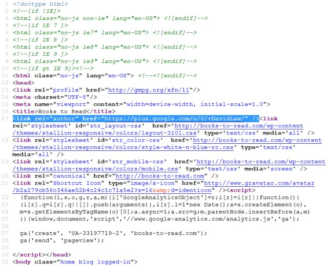 Google Rel Author Meta Tag