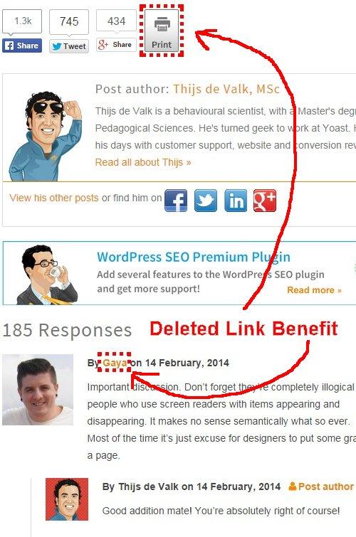 Rel Nofollow Deletes PageRank