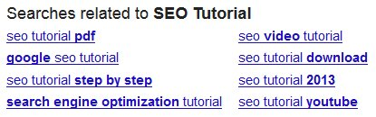Searches Related to SEO Tutorial