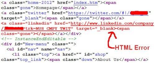 SEO HTML Errors