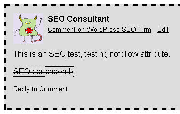 SEO Test Results Nofollow Anchor Text