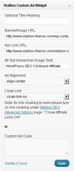 Stallion Custom Ad Widget