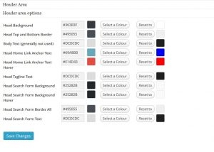 Stallion Responsive Colour Scheme CSS File Creator Header Options