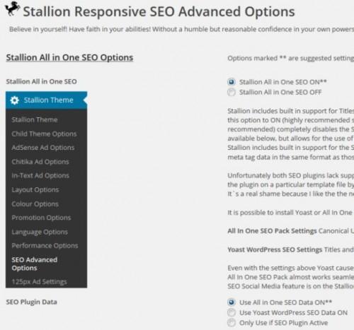 Stallion Responsive WordPress SEO Advanced Options