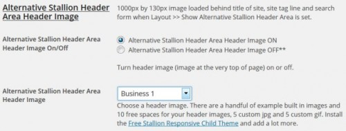 Stallion Theme Header Images