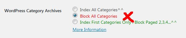 Stallion WordPress SEO Not Index Categories