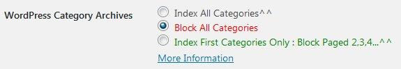 Stallion WordPress SEO Plugin Not Index Category Options