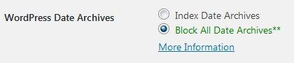 Stallion WordPress SEO Plugin Not Index Date Archives Options