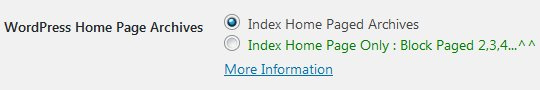 Stallion WordPress SEO Plugin Not Index Home Page Archives Options