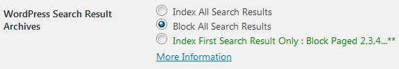 Stallion WordPress SEO Plugin Not Index Search Results Archives Options