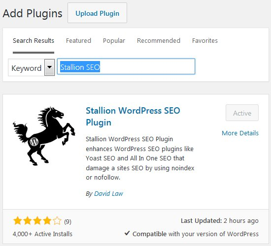 Stallion WordPress SEO Plugin