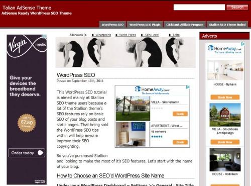 Talian WordPress Theme