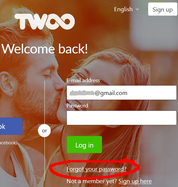 Twoo Password